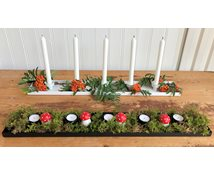 CANDLEFORM 5-CANDLES 76X12CM WHITE