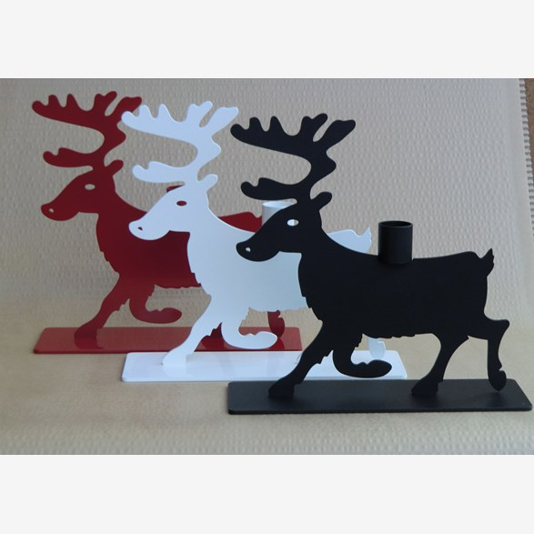 REINDEER WITH CANDLE 21CM