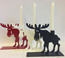 MOOSE WITH CANDLE 19CM