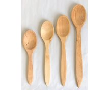 WOODEN SPOON OVAL OILED BIRCH