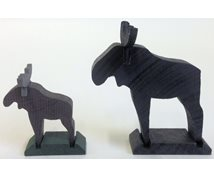 WOODEN MOOSE STAND. BLACK