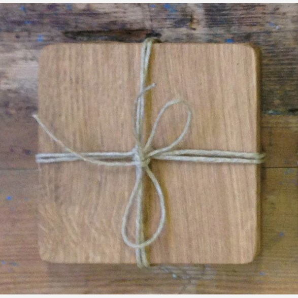 COASTERS 100X100X5MM OAK 4-PACK