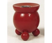 BOWLCANDLEHOLDER 70MM RED
