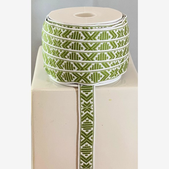RIBBON 15 MM L.GREENWHITE