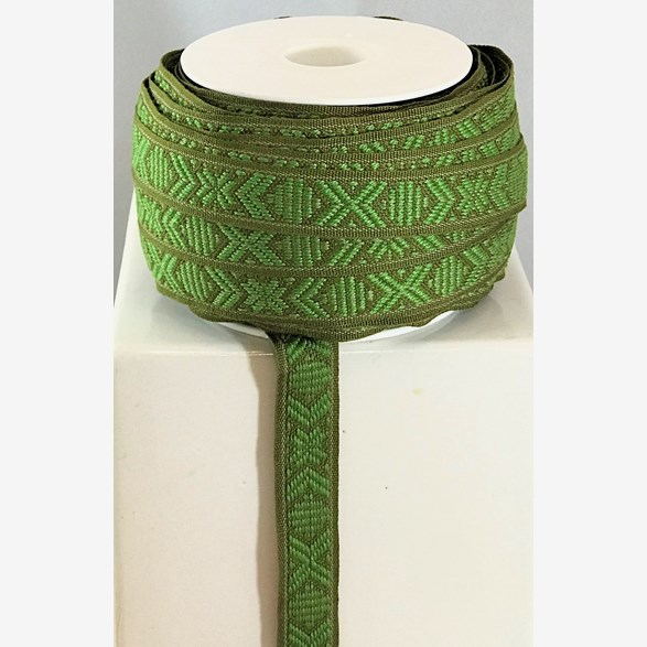 RIBBON 15MM GREENBROWN 25M/ROLL