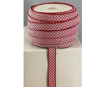 RIBBON 12MM WHITERED GOOSEEYE