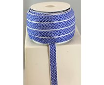 RIBBON 12MM BLUEWHITE GOOSEEYE