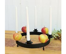 TABLERING 4 CANDLES 25CM (DECORATIONS ARE NOT INCLUDED)
