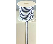 RIBBON 10MM LONGSTRIPE BLUEWHITE 25m/rulle