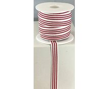 RIBBON 10MM LONGRAND REDWHITE