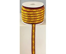 RIBBON 10MM YELLOWREDGREEN