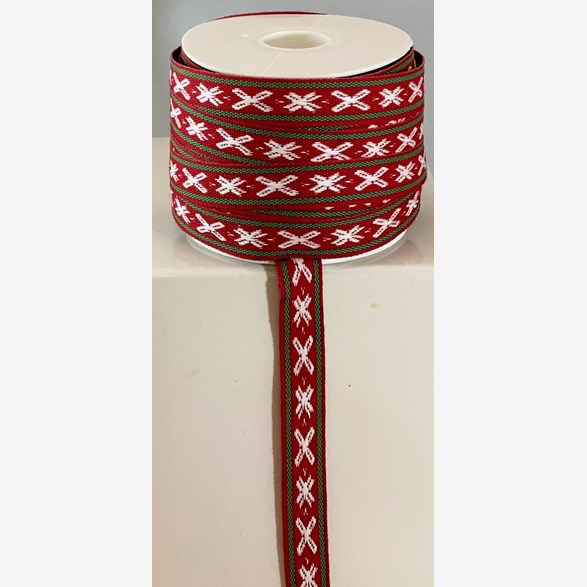 RIBBON 14 MM REDWHITEGREEN