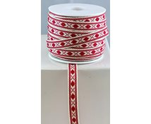 RIBBON 10MM REDNATAURAL 25m/roll