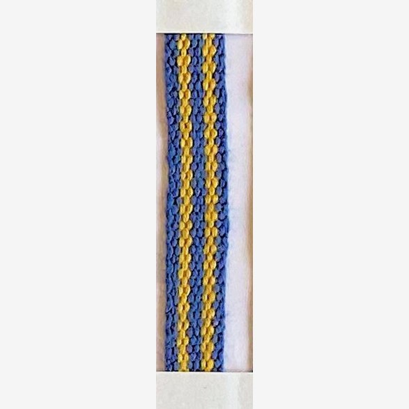 RIBBON 7MM BLUEYELLOW